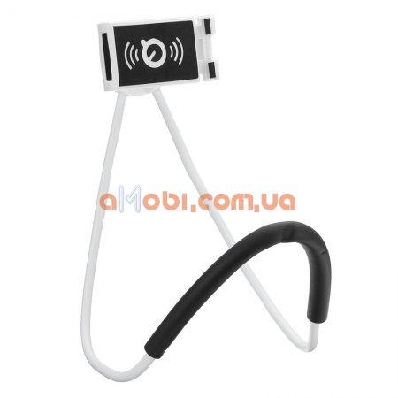 Гибкий держатель монопод для телефона на шею 360 Белый