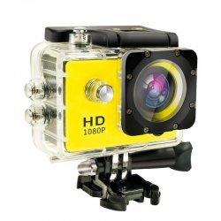 Экшн камера A7 Sports Cam FullHD Желтая полный компект