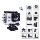 Экшн камера A7 Sports Cam FullHD Серебро полный компект