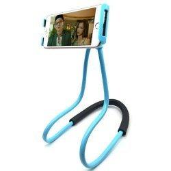 Гибкий держатель монопод для телефона на шею 360 Синий