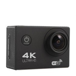 Экшн камера GoldFox B5 WiFi 4K Черная спортивная с водонепроницаемым боксом