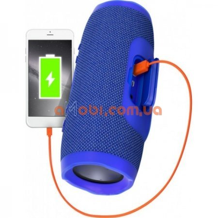 Колонка JBL Charge 3 с USB, SD, FM Синий