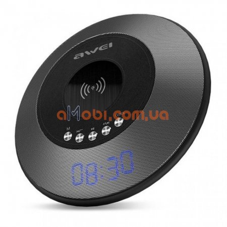 Портативная колонка Awei Y290 Bluetooth with wireless charger Black