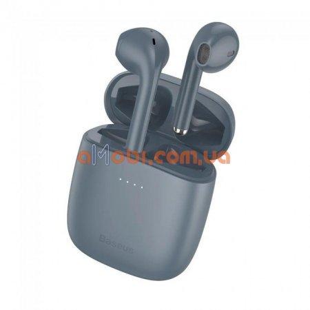 Беспроводные Bluetooth наушники Baseus Encok TWS W04 Pro Grey