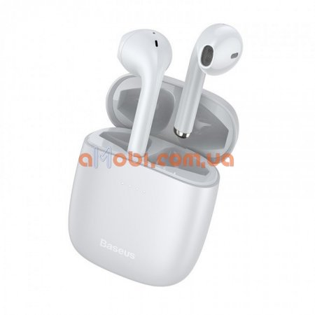 Беспроводные Bluetooth наушники Baseus Encok TWS W04 Pro White