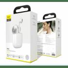 Беспроводные Bluetooth наушники Baseus Encok TWS W04 White