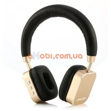 Беспроводные Bluetooth наушники Awei A900BL Gold