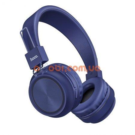 Беспроводные Bluetooth наушники Hoco W25 Promise Blue