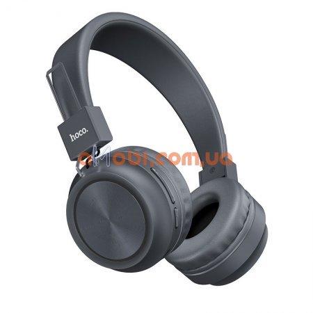 Беспроводные Bluetooth наушники Hoco W25 Promise Gray