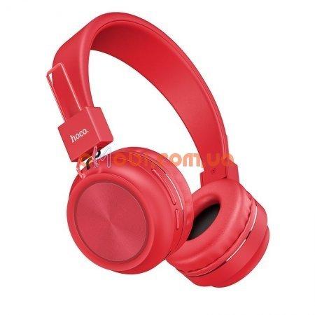 Беспроводные Bluetooth наушники Hoco W25 Promise Red