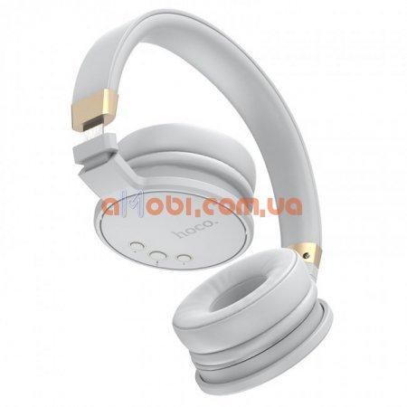 Беспроводные Bluetooth наушники Hoco W26 Enjoyment Gray