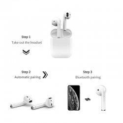Беспроводные сенсорные наушники i12 TWS Bluetooth