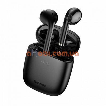 Беспроводные Bluetooth наушники Baseus Encok TWS W04 Pro Black