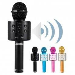 Беспроводной Bluetooth Караоке микрофон WSTER WS-858 со встроенной колонкой