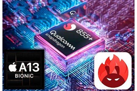 Кто сильнее, AnTuTu тест Snapdragon 855+ против Apple A13 Bionic