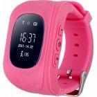 Смарт часы Smart Baby Watch Q50 Розовые Детские с функцией Отслеживания