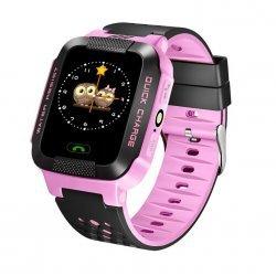 Смарт часы Smart Baby Watch A15 Детские, SOS, GPS Tracker Розовые