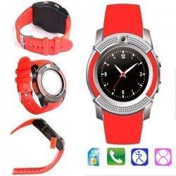 Cмарт часы Smart Watch V8 Сенсорные Красные