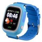 Смарт часы Smart Baby Watch Q90 Детские GPS, контроль звонки, сообщения, SOS, Wi-Fi Синие