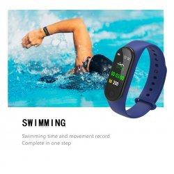 Фитнес смарт браслет Smart Band M4 Синий с измерением давления и пульса