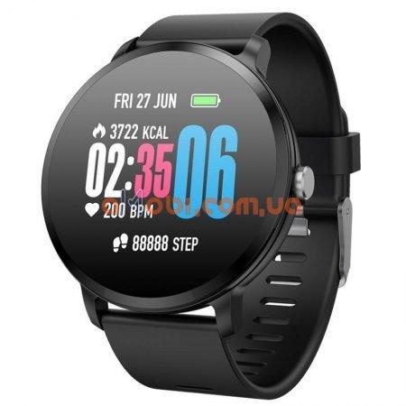 Смарт часы Smart Watch Life V11 фитнес Black с IPS дисплеем, тонометр, пульсометр, шагомер